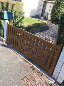 Installation d'un portail battant 91