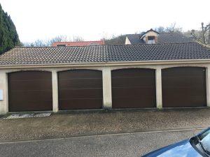 Pose portes de garage sectionnelles 91